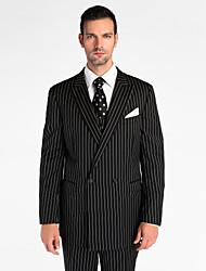 negro 100% lana de chaqueta de traje de ajuste