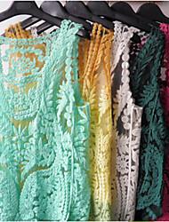 Co Co Zhang Women's Round Neck Lace Mesh Shirt