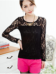 Women'S Scoop neck Slim Lace Shirt