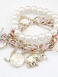 Fashion Pendant Double Pearl Bracelet