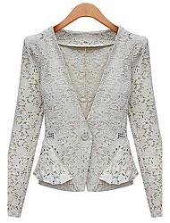 Women's Blazers & Sport Coats , Chiffon Casual Vvic