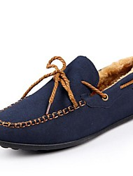 Men's Shoes Office & Career/Casual Suede Boat Shoes Black/Blue/Navy