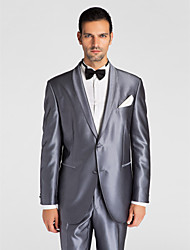 (Premium) Gray Polyeter Tailored Fit Two-Piece Tuxedo