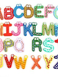 Colorful Cute 26 Letters Wooden Cartoon Fridge Magnet kid's Baby Educational Toy