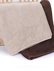 thouse® planície cetim bambu banho fibra toalha (100% malha de fibra de bambu, 60 * 120cm)