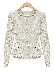 Miluola Women's Cut Out Lace Short Coat