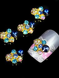 10pcs   Glitter Rhinestone DIY Alloy Accessories Nail Art Decoration