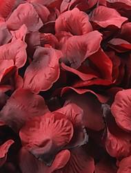 de color rojo oscuro y negro pétalos de rosa decoración de la mesa (juego de 100 pétalos)