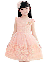 HiBaby Girl's Sleeveless Sweet Dress