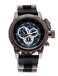 V6 SHAOPENG HALEI Luxury V6 Stainless steel Black Quartz Men Sport Waterpoof Wristwatch V60091