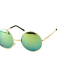 Unisex Vintage Colorful Lens Round Frame Sunglasses