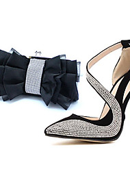 todos os sapatos de festa jogo das mulheres Daqian e saco conjunto