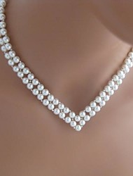 Women's European Fashion V  Imitation Pearls  Necklace (1 Pc)
