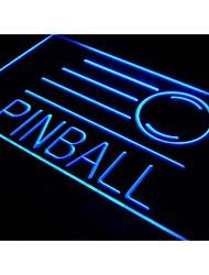 s078 salle de jeu de flipper signe bar bière néon de lumière