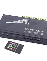 6A 3-Channel Infrared Voice Music RGB LED Controller with 20-Key Remote Controller for RGB LED Strip Lamp (DC 12-24V)