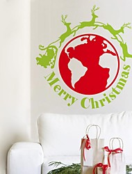 ZOOYOO® Cute Colorful PVC Removable christmas innovation logo of Wall Stickers Hot Selling Wall Decals For Home Decor