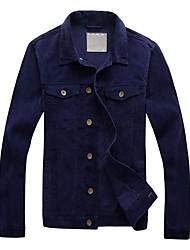 de forma magro de veludo jaqueta de homens