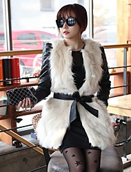 Fur Vests Ivory Fashion Causal Faux Fur Vest