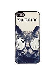 Personalized Case Lecherous Cat Design  Metal Case for iPhone 5/5S