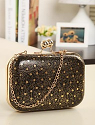 Women's Lady New Polka Dot Chain Neon Wallet Evening Party Bags Clutches