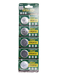 CR2032 3V Lithium Watch Battery 5PCS