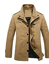 Men's  Jacket  Pure Lined cotton Long Sleeve Outerwear