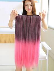 de longues extensions de cheveux droites colorées