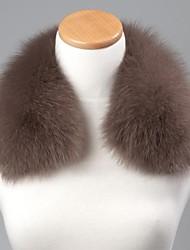 unisex caffè leggero alla moda vera autentica pelliccia di volpe avvolgere sciarpa collare