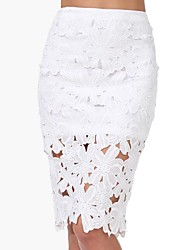 Women's Hook Flower Crochet Pencil Skirt