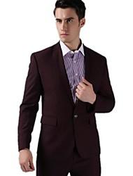 Men's Long Sleeve Regular Set , Cotton/Cotton Blend/Wool Blend Pure
