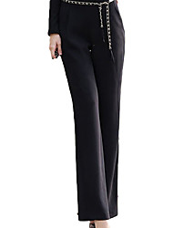 Fashion Fitted Solid Color Long Pants