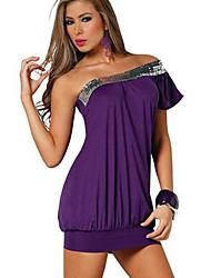 xq une épaule robe de loisirs des femmes