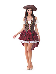 Performance Women's Pirate Costume Outfit-Including Dress,Hat