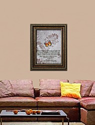 Framed 3D Art Wall Art , Animal 3D Butterflies   on Satined Paper Framed Poster with Brown PS Frame