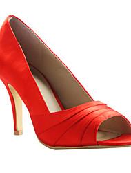 Women's Wedding Shoes Peep Toe/Platform Heels Wedding/Dress/Party & Evening Black/Red/Ivory/White/Champagne