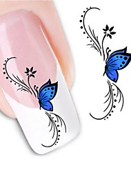 1 Nail Art Sticker  Water Transfer Sticker 3D Nail Stickers Flower Wedding Makeup Cosmetic Nail Art Design
