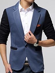 Men's Slim Contrast Color Single Breasted Blazer