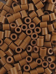 Approx 500PCS/Bag 5MM Coffee Perler Beads Fuse Beads Hama Beads DIY Jigsaw EVA Material Safty for Kids