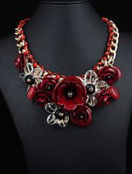 JQ Jewelry Women's Crystal Gemstone Flower Necklace