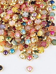 500PCS Colorful Pearl Metal Lipping Nail Art Decorations