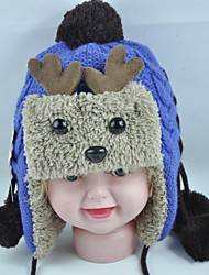 Kid's Fashion Lovely Warm New Cartoon Antlers Villi Earmuffs Caps