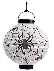 araignées blanches motif lanterne holloween décoration (ampoule exclu)