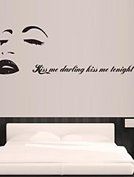 Wall Stickers Wall Decals, Marilyn Monroe Family Home Decor PVC Wall Stickers