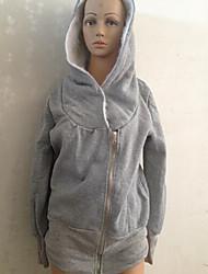 Xinying Frauen Zipper Hoodie-Mantel