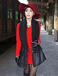 pu Heep abrigo de lana del mosaico de las mujeres