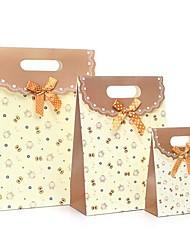 coway 3pcs saco borboleta coruja bege fundo colagem festa fresco moda dom saco de papel conjunto