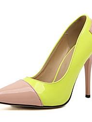moka Frauenfarbabstimmung Spitze Zehen Pfennigabsatz eleganten Pumps