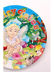 Coway 50pcs 7*7 Cartoon Children Birthday Party Disposable Platters of Fruit Cake Paper Dish