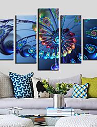 doek set van 5 reuzenrad moderne blauw stilleven stretched canvas afdrukken klaar te hangen