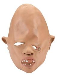 SYVIO High-grade Latex  Askance Monster Head Halloween Slip-on Mask